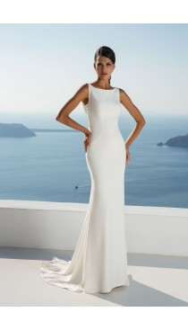 Rochie de mireasa Justin Alexander Crepe Fit and Flare Gown