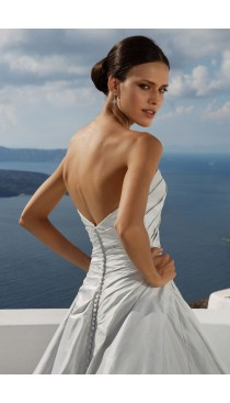 Rochie de mireasa Justin Alexander Asymmetrical Ruched Silk Dupion Ball Gown